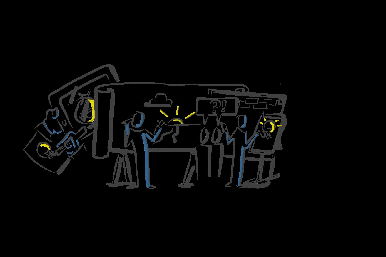 visualisieren beispiele wandbild syllogs